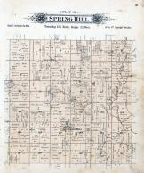 Spring Hill Township, Stony Creek, Sauk River, Stearns County 1896 published by C.M. Foote & Co